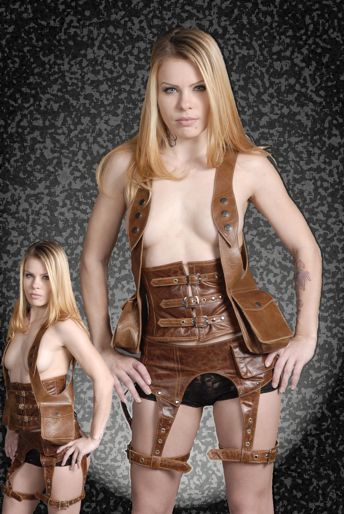Brown Leather Belt Adjustable Leg Straps 10325 Edmonton