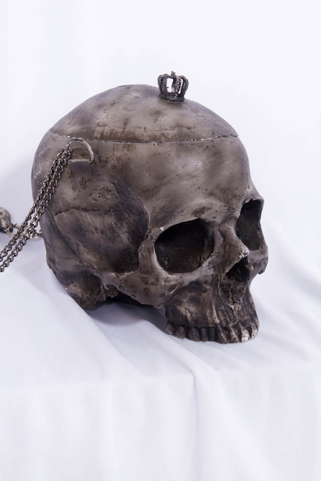 Unique 3D Skull Purse Black 7301 Edmonton