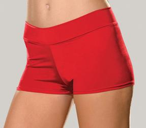 red stretch knit booty shorts 4575 Edmonton