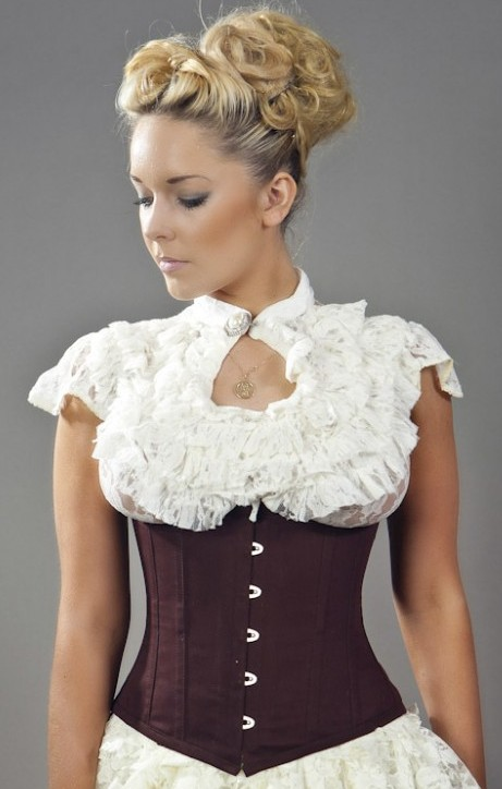 Corset shown not included