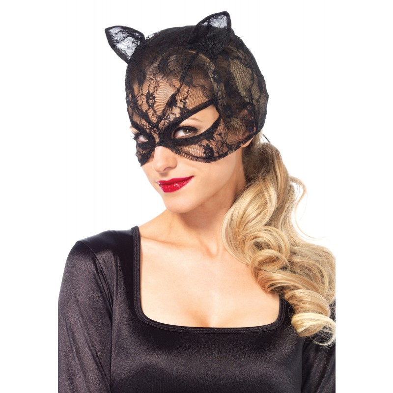 Lace Catwoman Mask Lace up Back3746 Edmonton