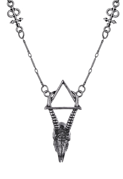 Silver gazelle skull necklace witchy style 4422 Edmonton