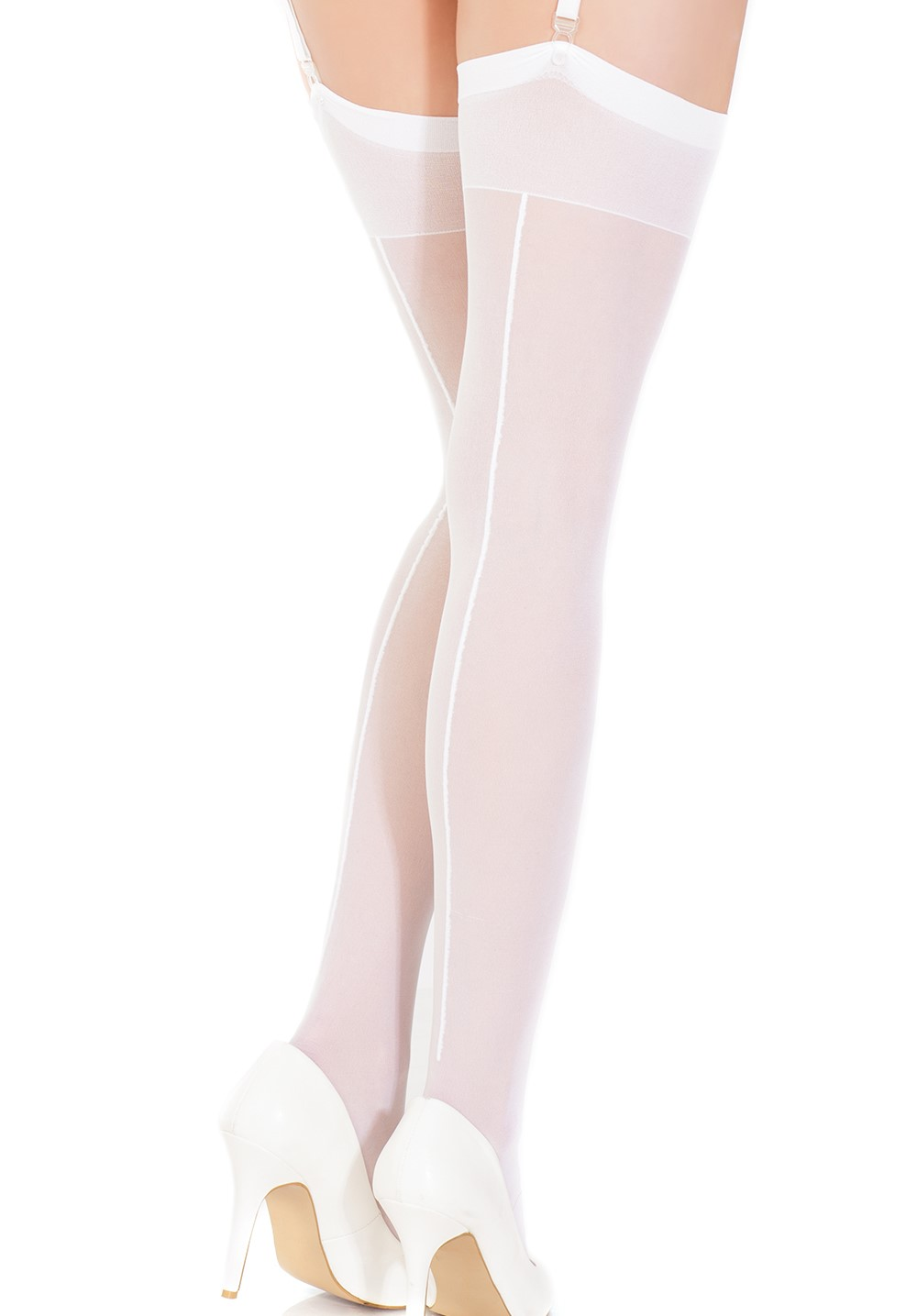 Vintage style sheer thigh high stockings back seam 1756 Edmonton