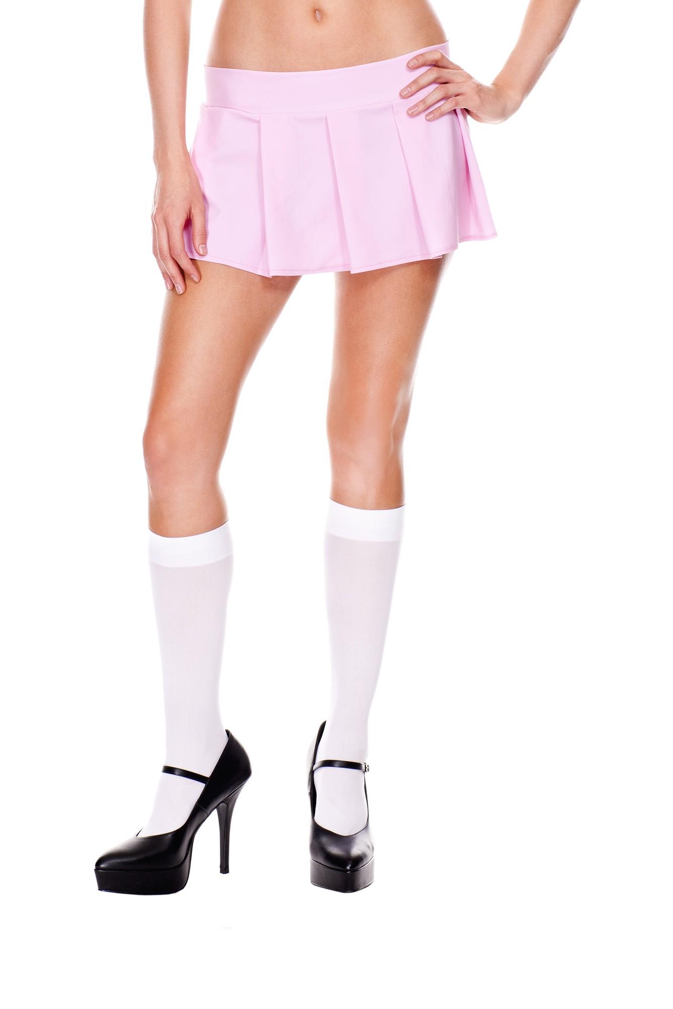 Pleated spandex mini skirt light pink 25075 Edmonton