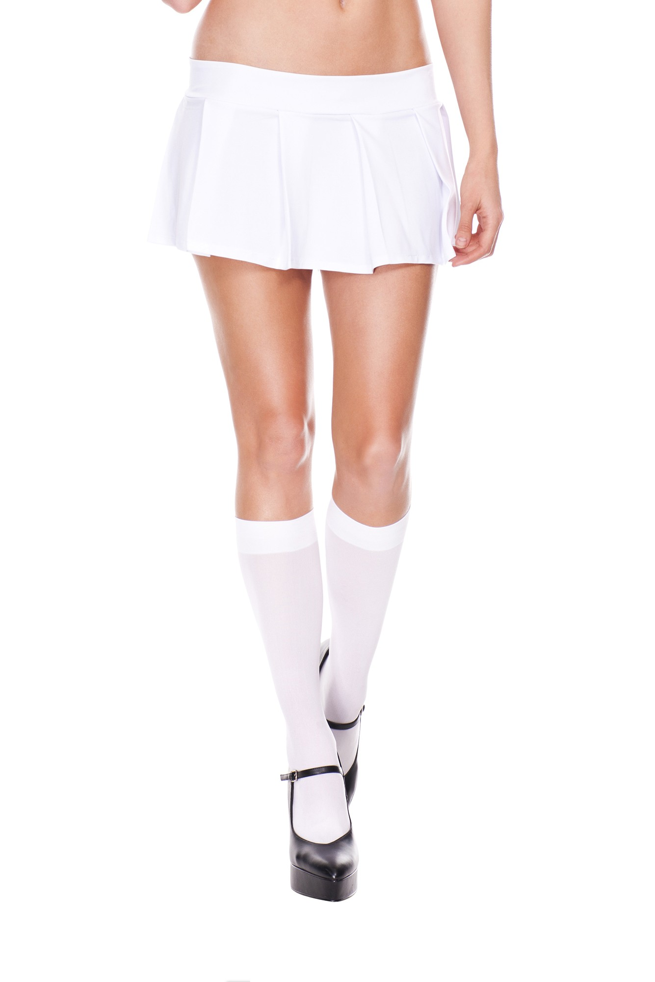 Pleated spandex mini skirt white 25075 Edmonton