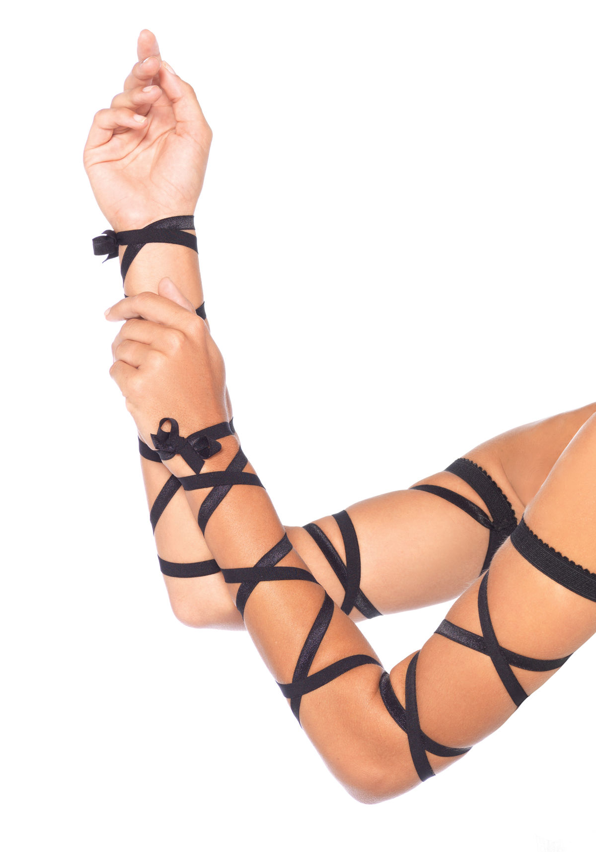 Shiny Black Elastic Arm Wraps 3729 Edmonton