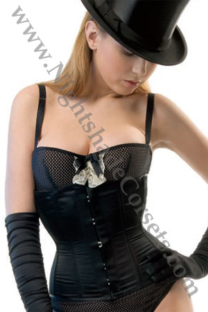 Shown in Black Satin