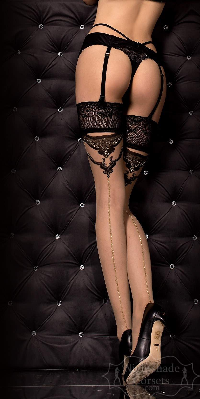 Back view.European-made stay-up stockings 0314 Edmonton