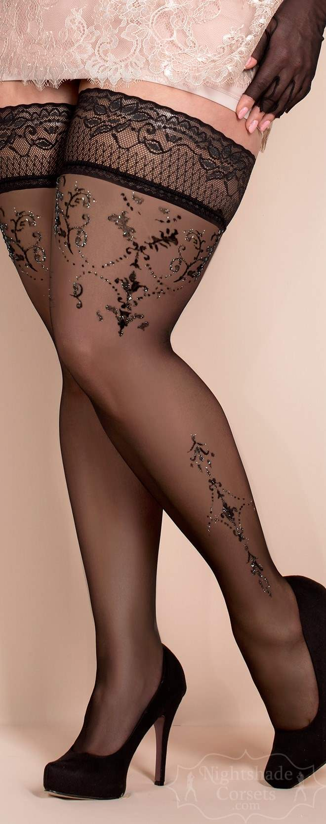 European-made stay-up stockings silicone top 0371 Edmonton