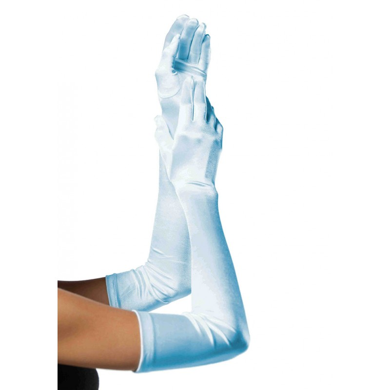 Baby Blue Opera Length Satin Gloves 0016 Edmonton