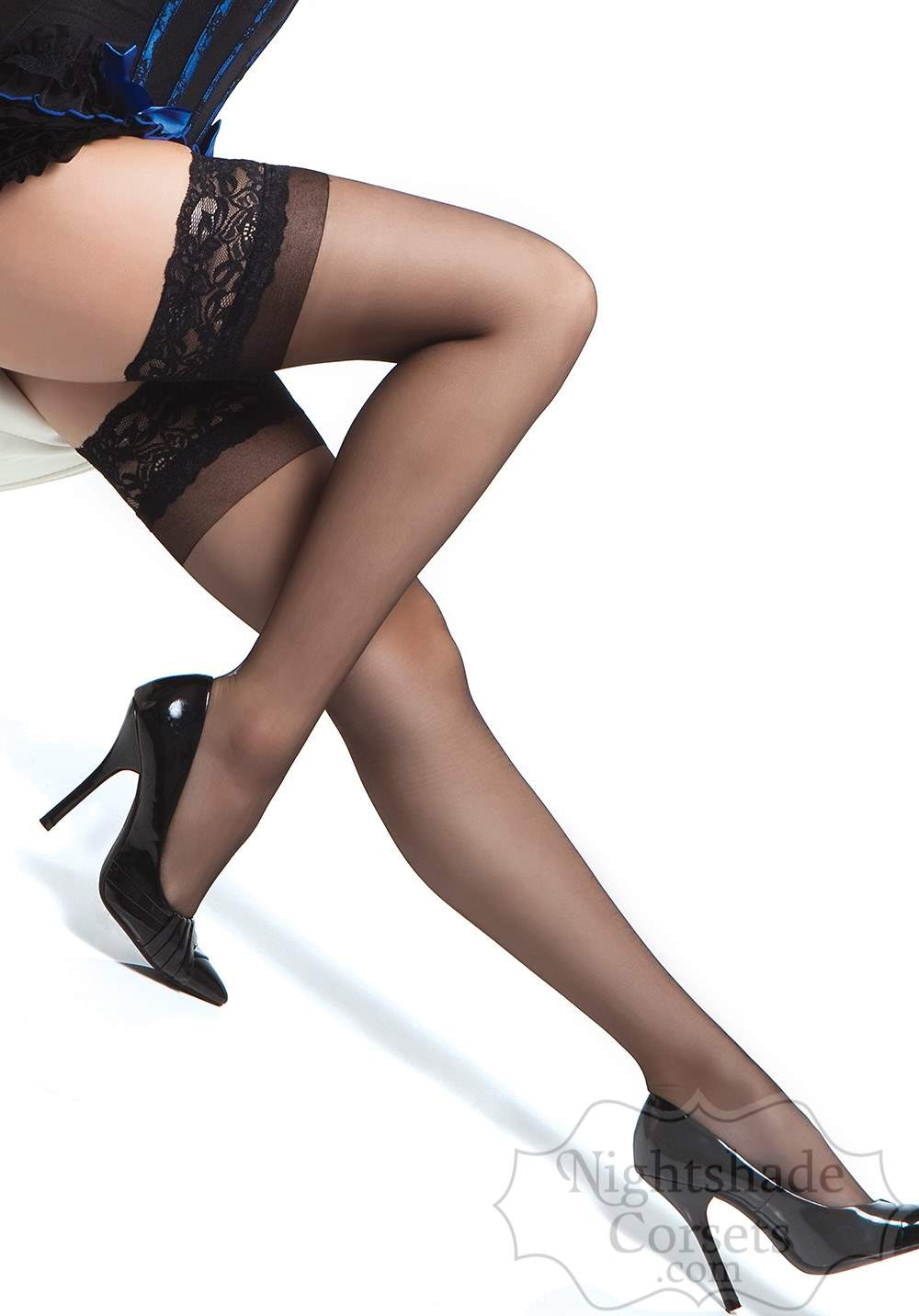 Classic sheer stockings feature a silicone backed lace top 1750 Edmonton