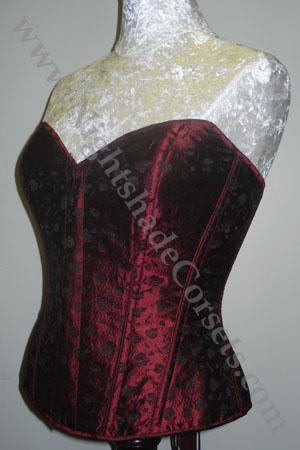 Shown in Black/Red Jacquard