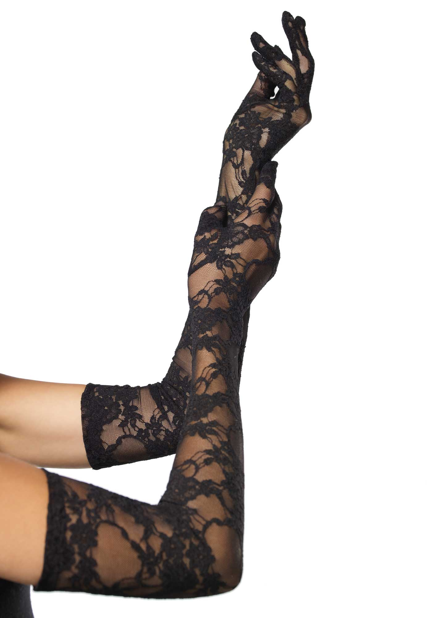Black Opera Length Stretch Lace Gloves 1116 Edmonton