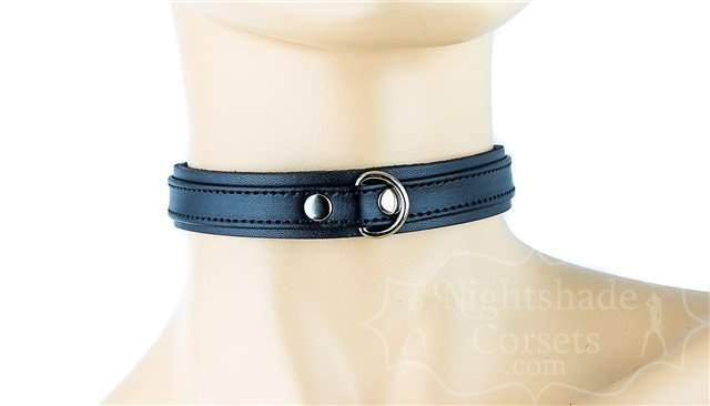 Black Double Layer Collar Front D-Ring 0294b Edmonton