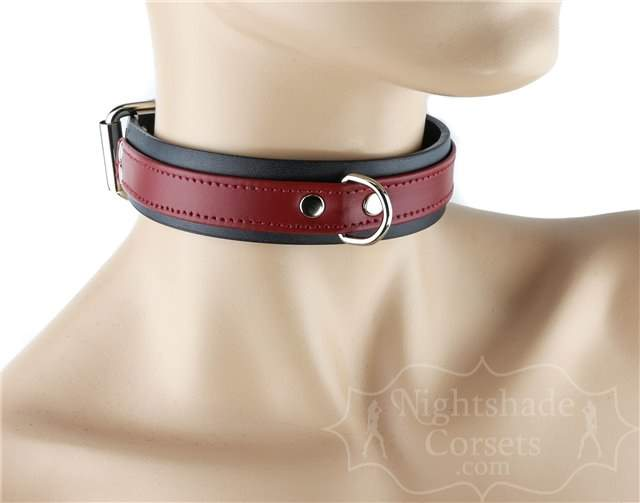 Double Layer Collar Black Red Front D-Ring 0296r Edmonton