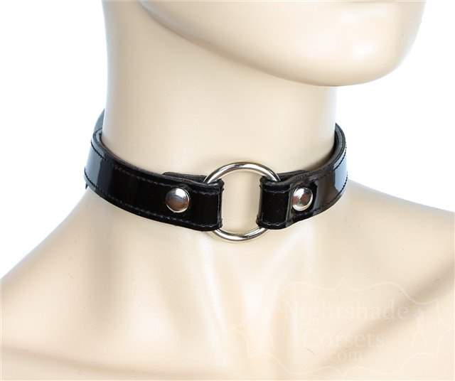 Shiny Black Patent Collar O-Ring 0169bp Edmonton