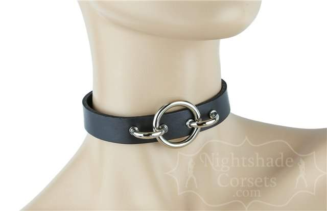 Flush Front O-Ring Black Leather Collar 0225 Edmonton