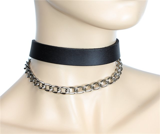 Leather Draped Chain Collar 0130 Edmonton