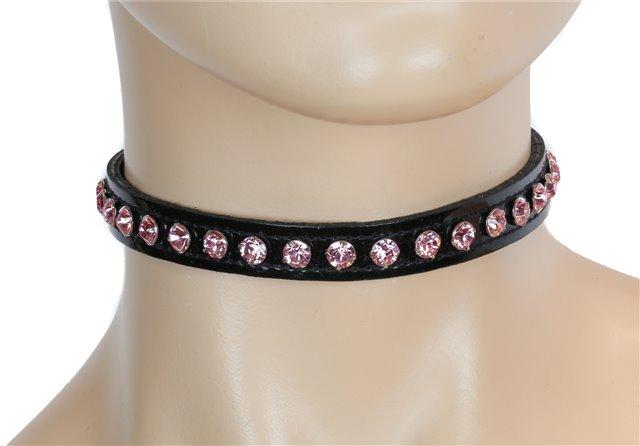 Black Patent Pink Rhinestones Collar 0247pp Edmonton