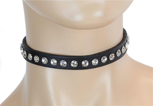 Elegant Black Collar Clear Rhinestones 0247bc Edmonton