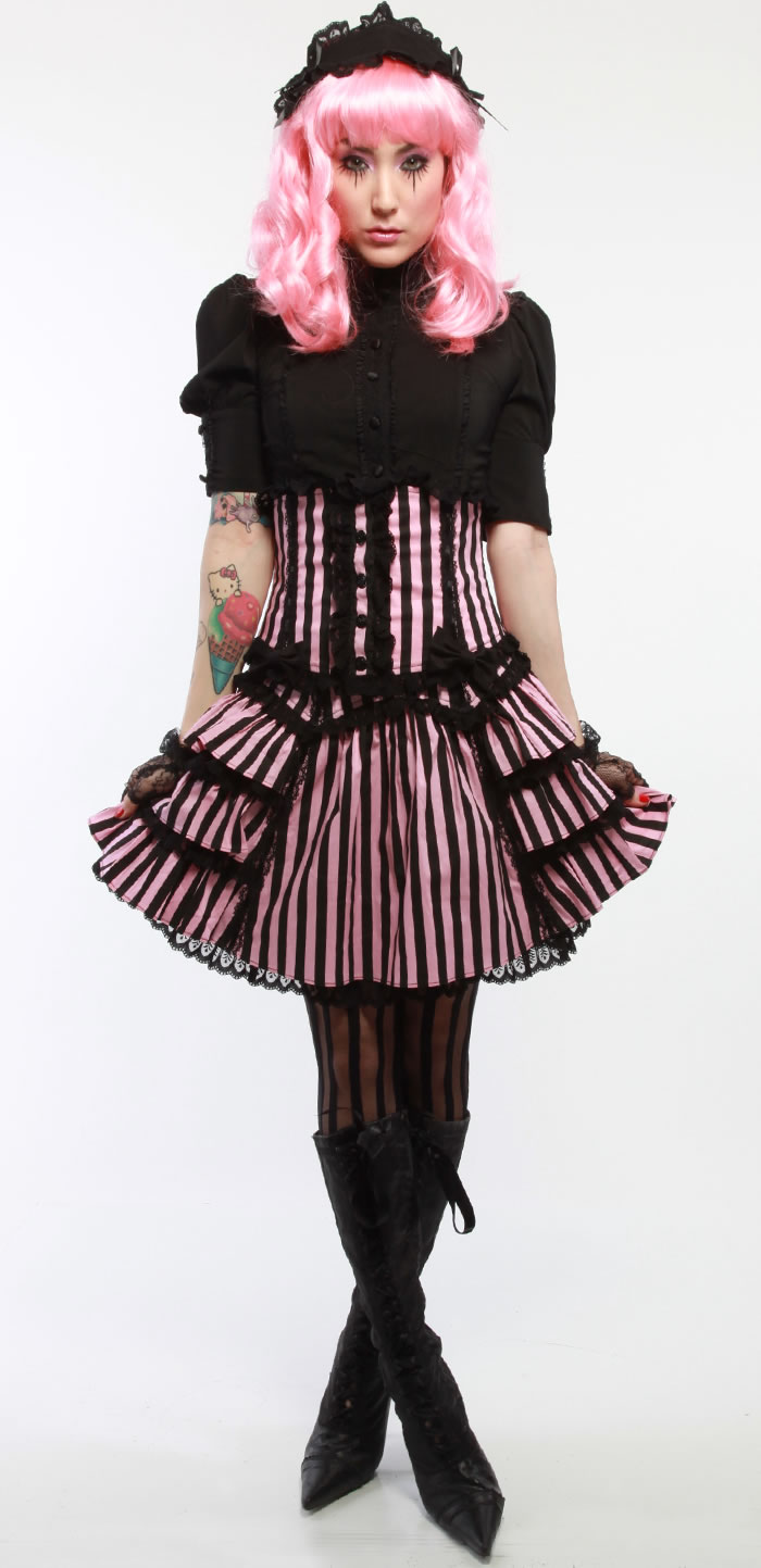 Corset shown in photo not included.