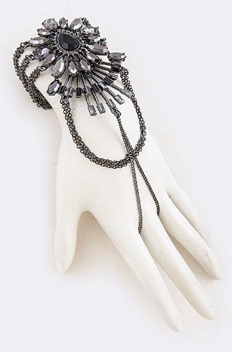 Ornate rhinestone slave bracelet 2789 Edmonton