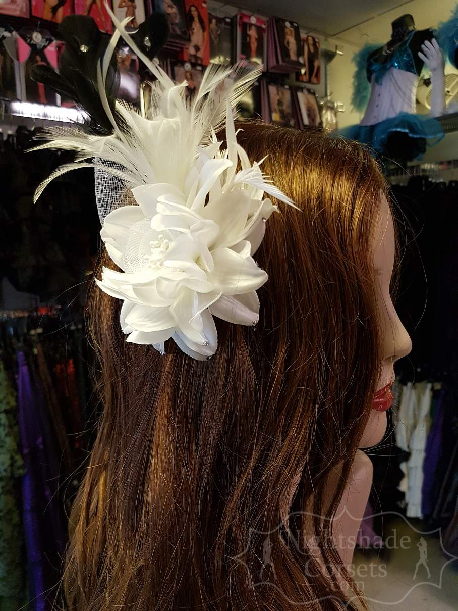 Hair Flower feather Rhinestones 5408 Edmonton