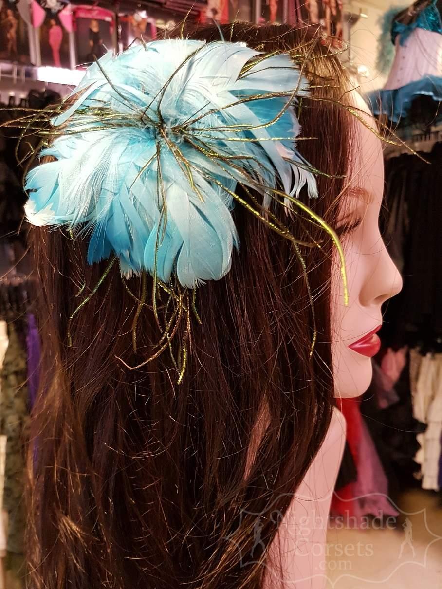 Feather hair flower peacock flue center 5356 Edmonton