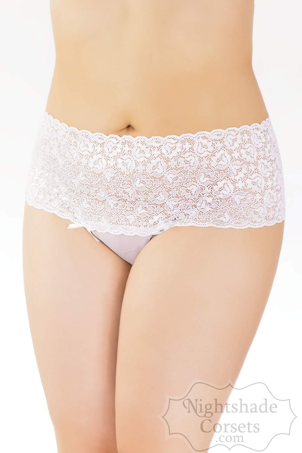 Mesh high waisted thong Stretch lace waistband bow detailing 0111 Edmonton