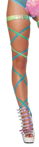 Shimmer leg strap attached garter 3322 Edmonton
