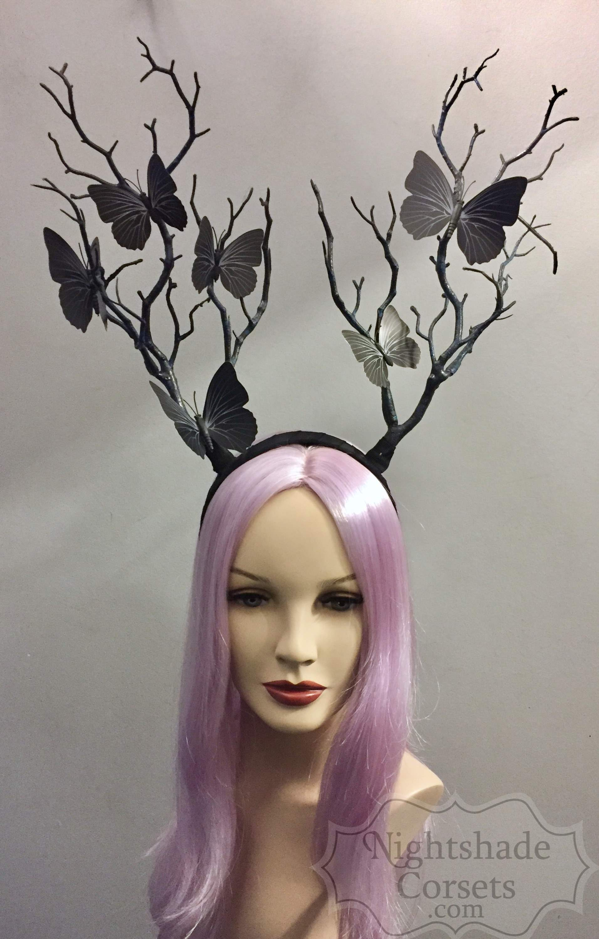 Faux Branches Butterflies Headdress Headband 4442 Edmonton