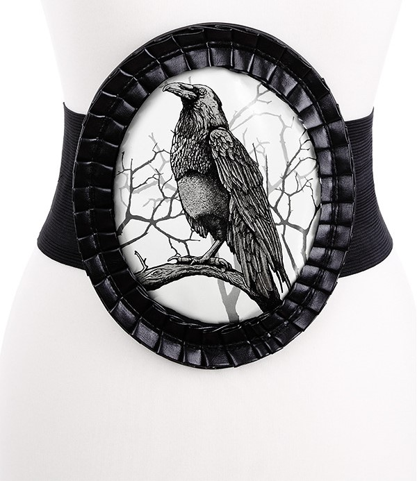 Black and White Crow Cameo Corset Belt 4409 Edmonton