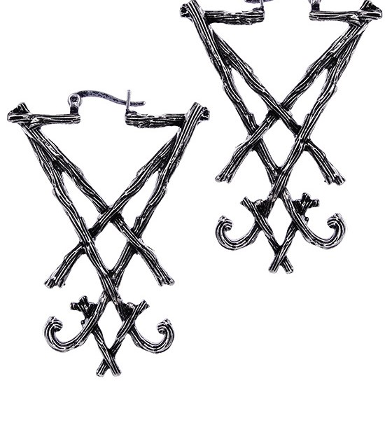 Occult lucifer sigil earrings 4417 Edmonton
