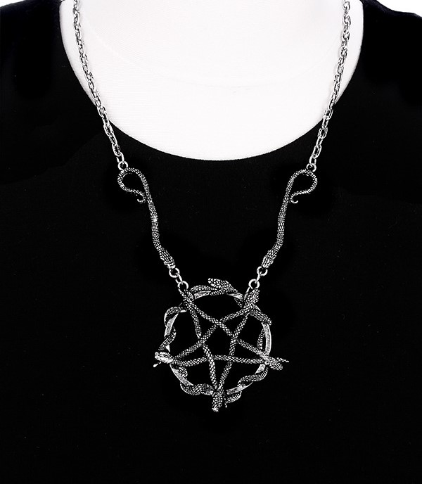 Occult snake pentagram necklace 4428 Edmonton