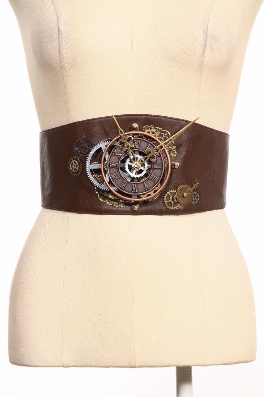 Steampunk Corset Belt Clockwork Front 24072 Edmonton