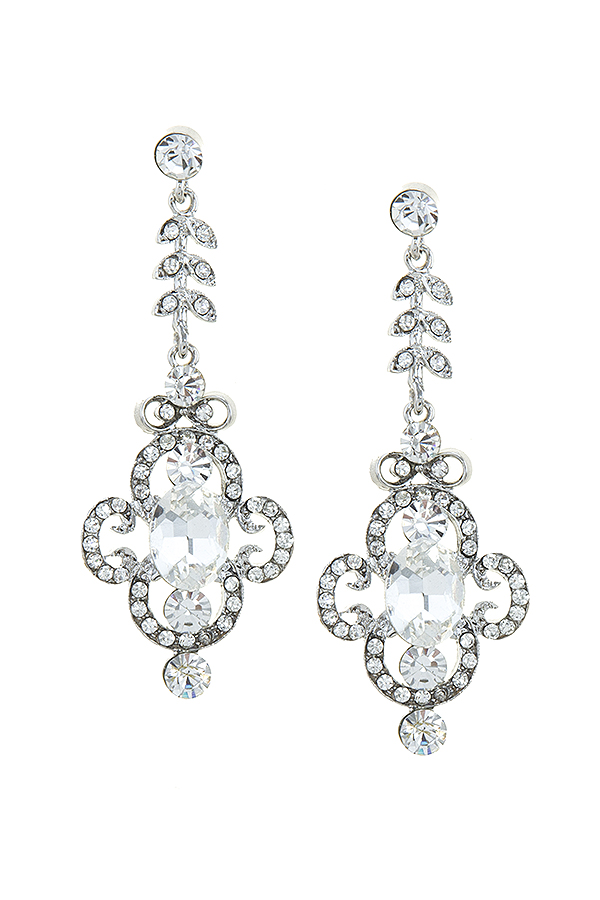 Rhinestone drop earrings 5157 Edmonton