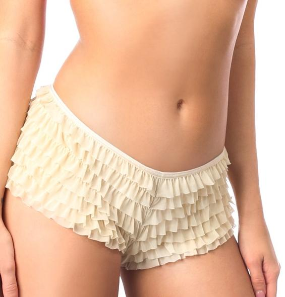 Soft mesh ruffle panty back bow 0114 Edmonton