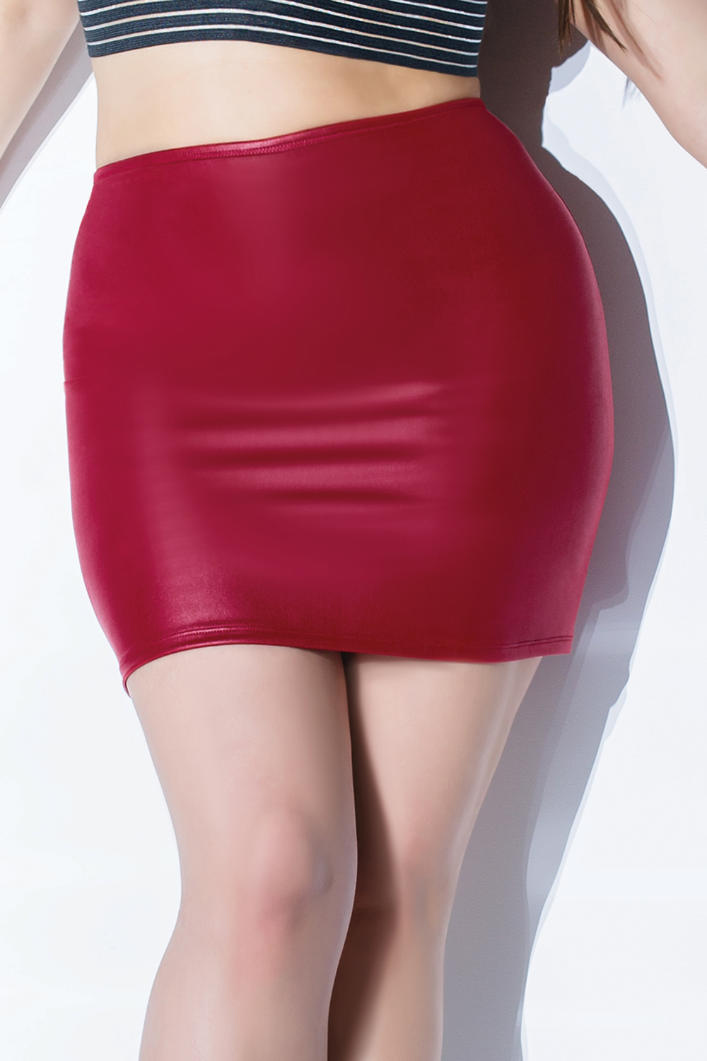 Classic wetlook mini skirt 9356 Edmonton