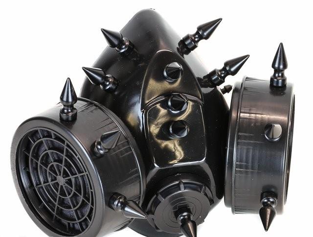 Black Spiked Gasmask 1291 Edmonton
