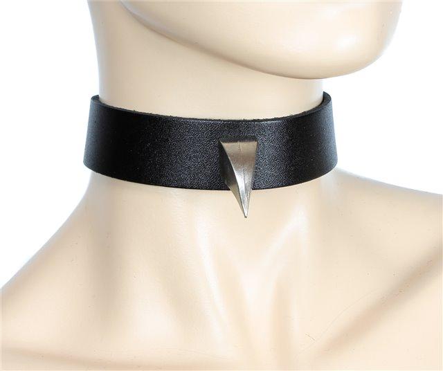 Claw Spike Black Leather Collar 0177 Edmonton