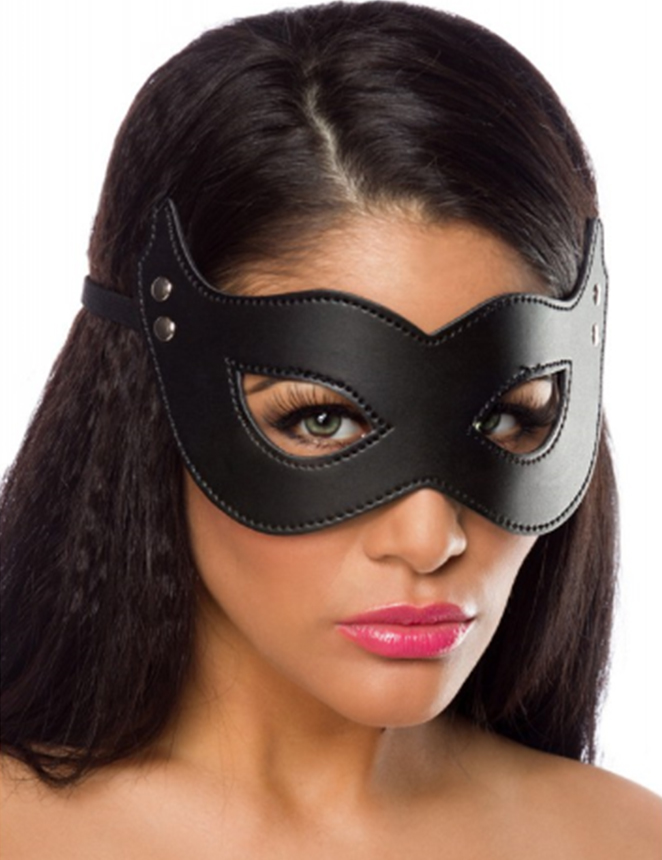 Black Vegan Leather Face Mask 87509 Edmonton