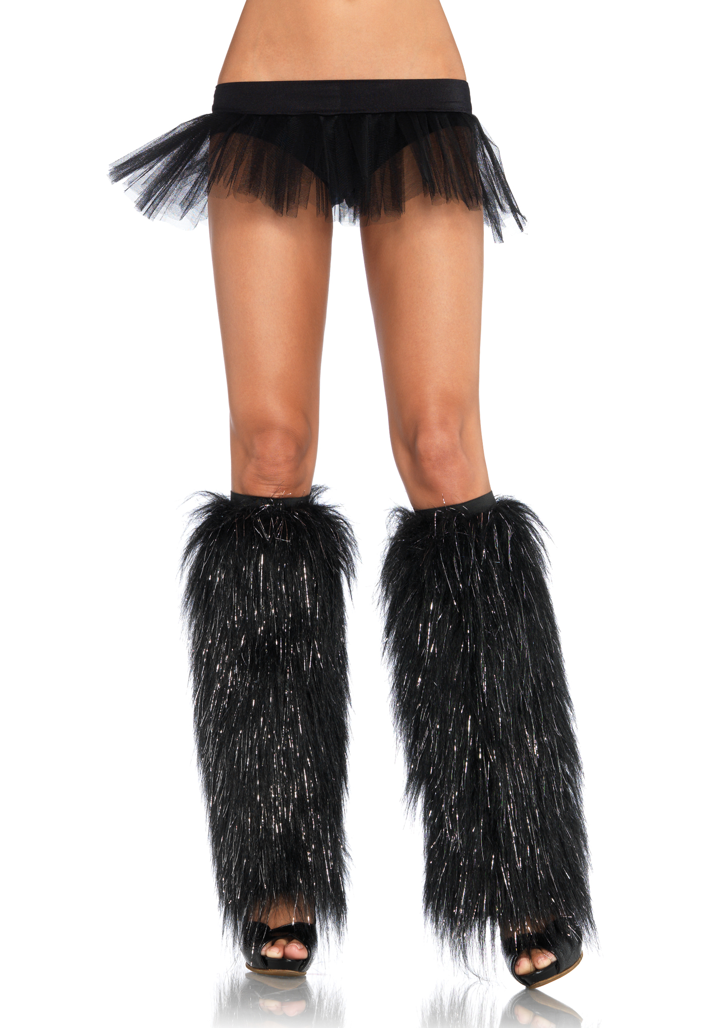 Furry leg warmers with silver lurex 5536 Edmonton