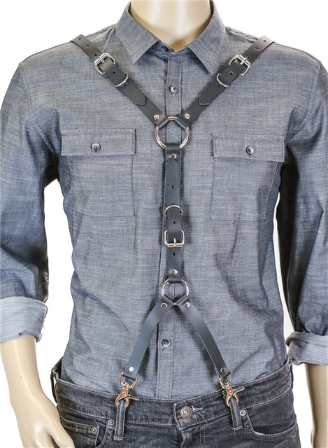 Unique 3-way Buckle Suspenders Harness 3030 Edmonton Shirt not included.