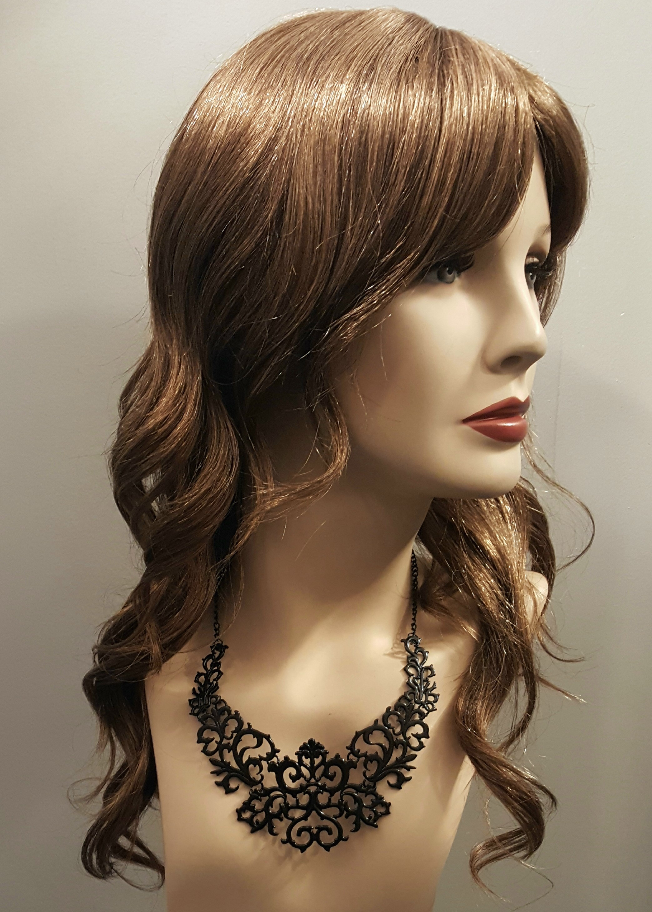 Metal filigree necklace black 16552 Edmonton