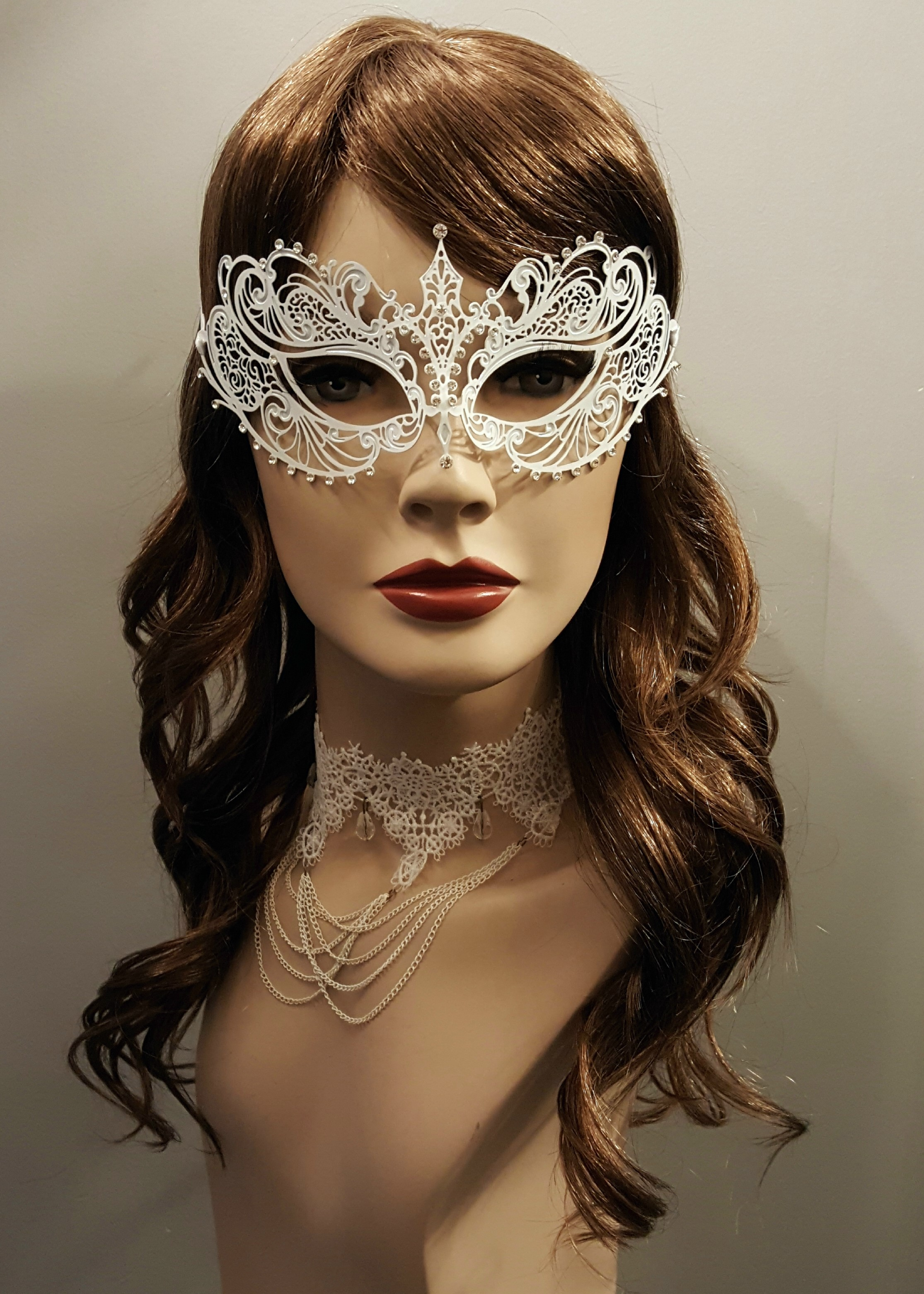 Lace choker draped chains crystal beads 2202 Edmonton