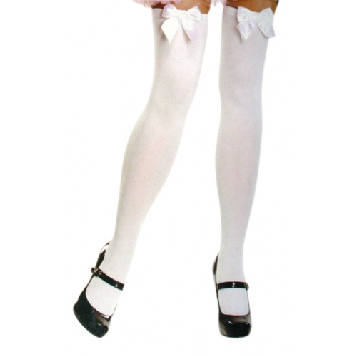 Stockings with White Bows Edmonton Thigh Highs