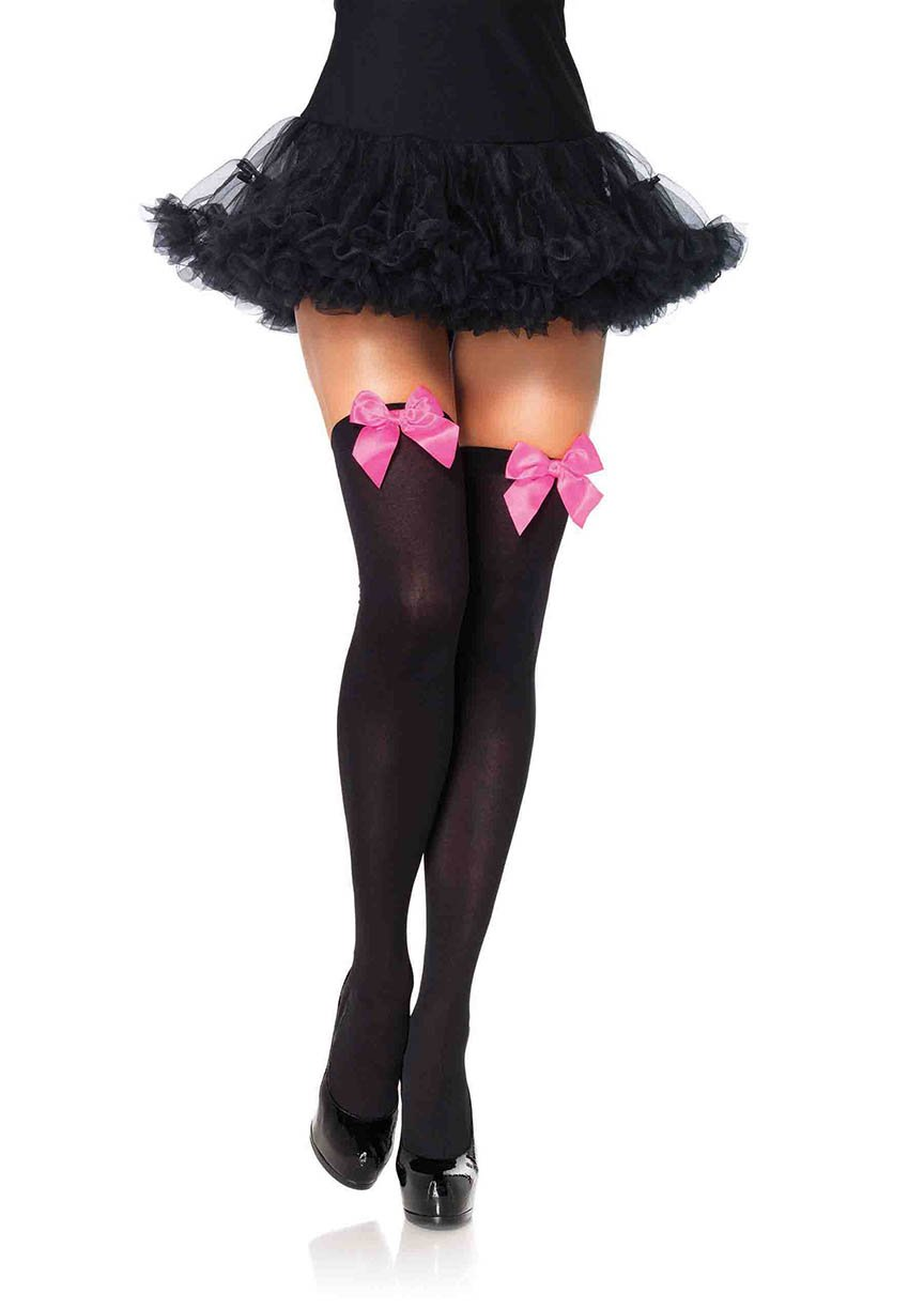 Stockings with Pink Bows Edmonton Thigh Highs