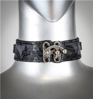 Black Brocade Collar C-Clasp 0491 Edmonton