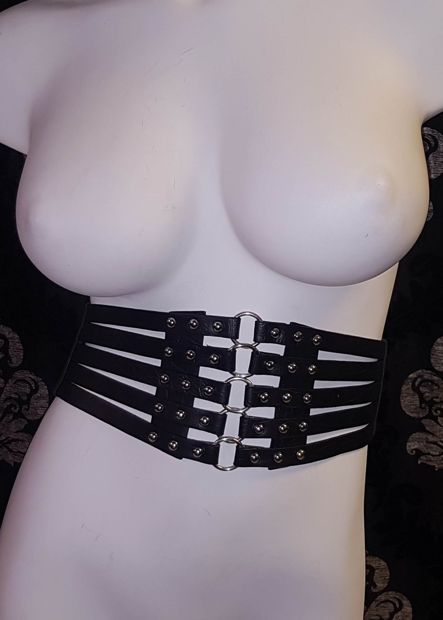 Faux Leather Strappy Corset Belt 2418 Edmonton