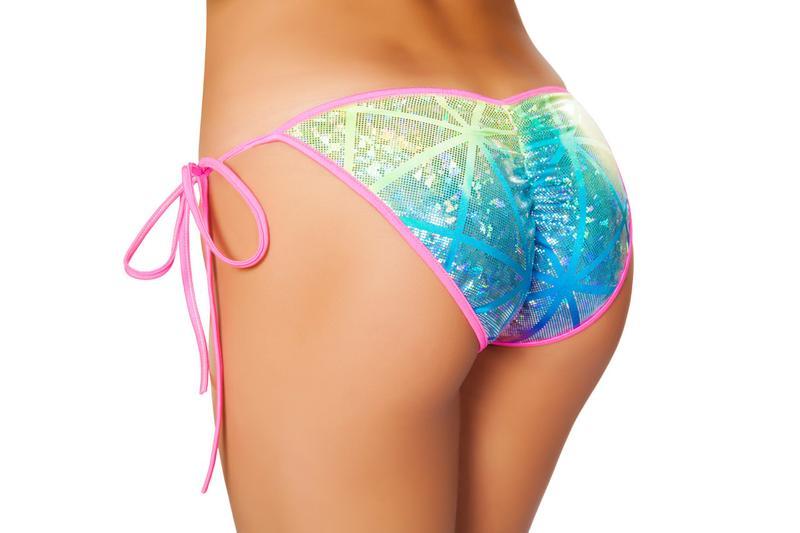 Side tie bikini bottoms flattering puckered back 3311 Edmonton